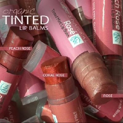 Natural tinted lip balms